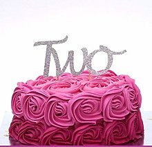 LissieLou Number Two Large Cake Topper - Silver
