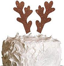 LissieLou Reindeer Antlers Christmas Cake Topper -