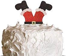 LissieLou Santa Legs Christmas Cake Topper -