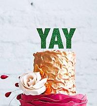 LissieLou Yay Topper Cake Topper - Glittery Green
