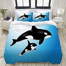 LISUMAL Bedding - Duvet Cover Set,Orca Family