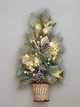 Lit Christmas Tree Wall Decoration