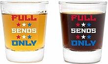 LitGifts Full Sends Only Shot Glass Set | Funny