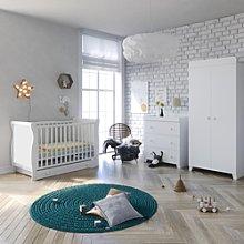 Little Acorns Chelmsford Sleigh Cot Bed 6 Piece