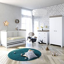 Little Acorns Classic Milano Cot Bed 5 Piece