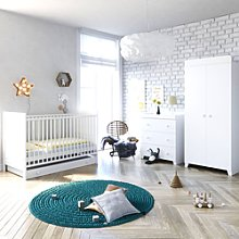Little Acorns Classic Milano Cot Bed 6 Piece