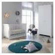 Little Acorns Sleigh Cot 4 Piece Nursery Furniture