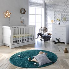 Little Acorns Sleigh Cot 5 Piece Nursery Furniture