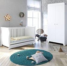 Little Acorns Sleigh Cot Bed and Wardrobe Nursery