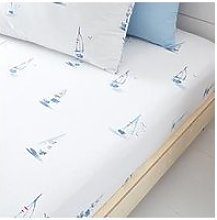 Little Bianca Sailing Boats Cotton Fitted Sheet -