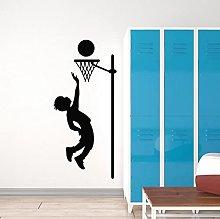 Little Boy Wall Decal Game Sport Ball Basketball