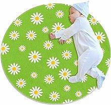 Little Daisies Round Area Rug Soft Comfort Floor