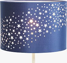 little home at John Lewis Stardust Lampshade, Navy