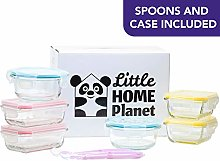 Little Home Planet® Glass Baby Food Storage