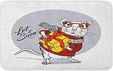 Little Mouse In A Red Striped Pullover And White