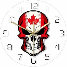 LittleNUM Decorative wall clock with skull pattern