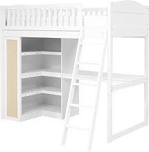 Littleton Warm White High Sleeper with Desk