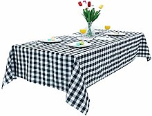 litulituhallo Black And White Gingham Tablecloth