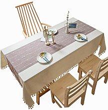 litulituhallo Table Cloth Rectangular Cotton Linen