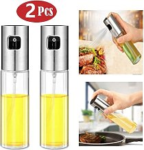 LITZEE 2 Pack BBQ Oil Spray with Stainless Steel
