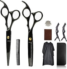 LITZEE Barber Scissors Set with Cleaning Cloth and