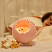 Litzee - Children Night Light Cat Lamp Cute