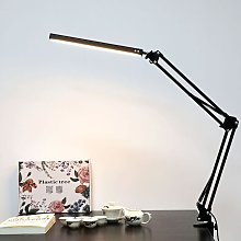 Litzee - Desk Lamp LED with Clamp,Metal Swing Arm