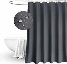 Litzee - Long Shower Curtain 180cm Drop, Waffle