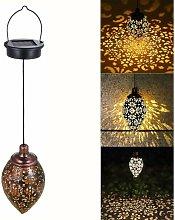 Litzee - Outdoor Solar Lantern, LED Hanging Solar