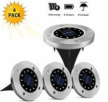 Litzee - Set of 4 Outdoor Solar Lights - 12 LED -