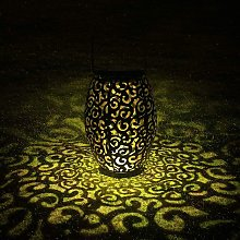 Litzee - Solar Lantern, LED Outdoor Lantern Lamp,