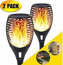 LITZEE Solar Torch Light, Flame Light Effect Lamp