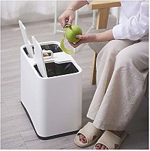 LIUCHANG Recycling Bin, Double Trash Can,Dry and