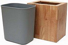 LIUCHANG Trash Can Solid Wood Material Capacity 6L