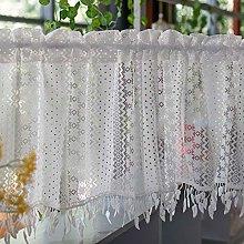 LIUD Kitchen Cafe Net Curtain Retro Bistro Net