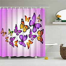 Liufengyun Animals Printed Shower Curtain With 12