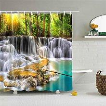 Liufengyun Landscape Prints Shower Curtain