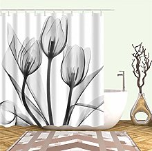 Liufengyun Red Rose Small Fresh Shower Curtains