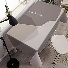 LIUJIU Faux Linen Tablecloth Wipeable Tablecloth
