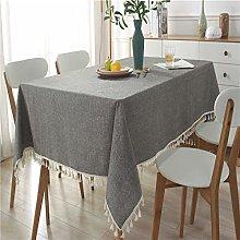 LIUJIU Heavy Duty Cotton Linen Table Cloth for
