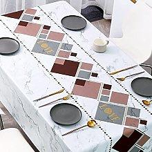 LIUJIU PVC Table Cloth Wipeable Plastic Tablecloth