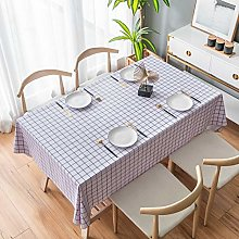 LIUJIU Vinyl Tablecloth   Suitable For Up To A Six