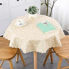LIUJIU Vinyl Tablecloth Waterproof Wipe Clean