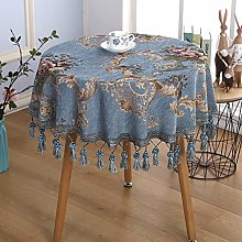 LIUJIU Wipe Clean Tablecloth Grey With Table Cover