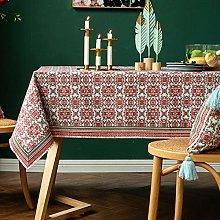 LIUJUAN Dust Proof Table Retro Ethnic Lace