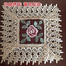LIUJUAN Placemats And Coaster Sets Lace Washable