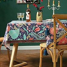 LIUJUAN Table Cloth Retro Ethnic Lace Tablecloth