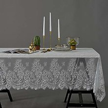 LIUJUAN Table Cloth White Lace Tablecloth