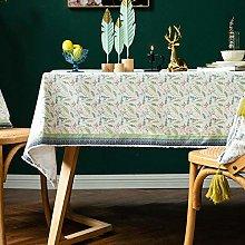 LIUJUAN Table Cover Retro Ethnic Lace Tablecloth