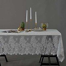 LIUJUAN Table Cover White Lace Tablecloth